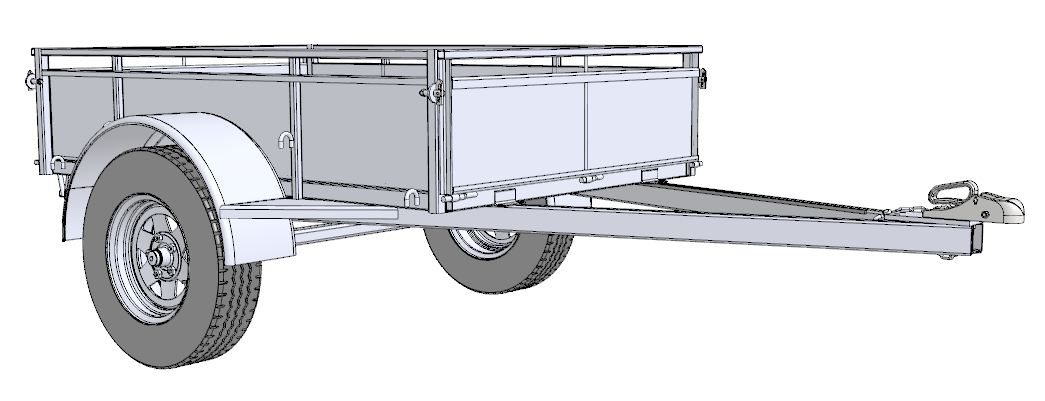 Single Axle Trailer Plans : Free trailer building plans trailersauce designs info