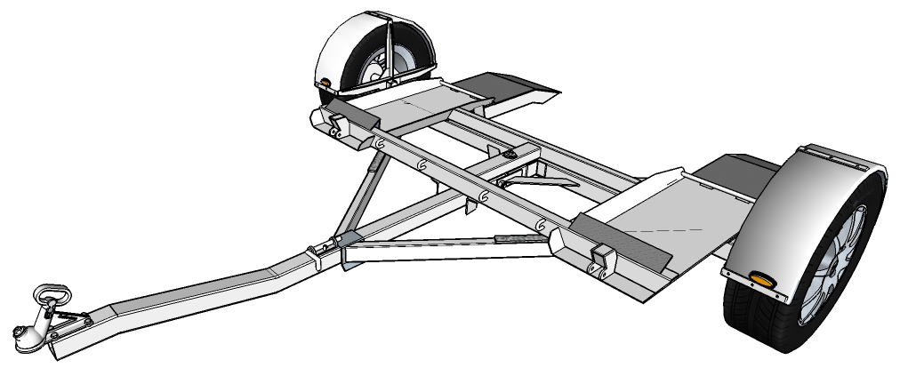 Tow Dolly Trailer Plans & Building Instructions