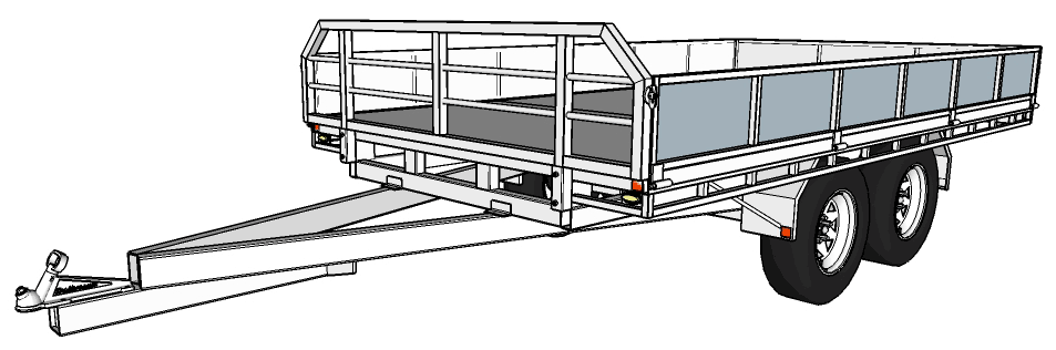 Trailer building plans 36 x 20 flatdeck trailer g malvernweather Gallery