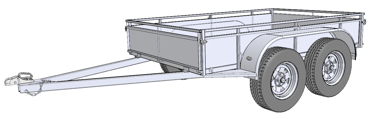 trailer building plans trailersauce designs info more 8x5 tandem png